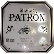 Vintage Florescent  Las Vegas Bar Sign for Patron Silver Mexican Tequila Circa 1990