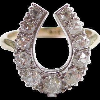 Victorian Horseshoe Diamond Ring