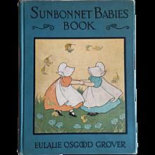 1930 Sunbonnet Babies Book by Eulalie Osgood Grover