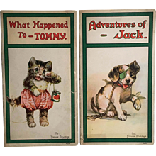 2 Frances Brundage Children's Books What Happened To Tommy & Adventures of Jack 1921