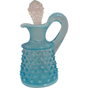 Ice Blue Glass Fenton Cruet