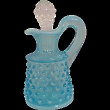 Ice Blue Glass Fenton Cruet