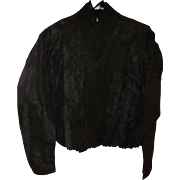 Vintage Black silk Taffetta Ladies Blouse