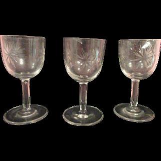 Old Glass Wine Glasses