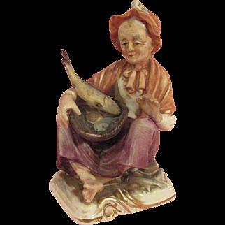 Fisherwoman Figurine