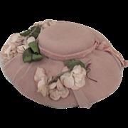 Pink Felt Dolls Hat