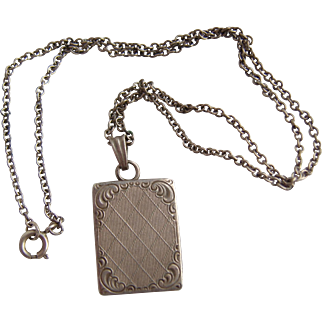 Vintage German Sterling Silver Book Locket Kordes & Lichtenfels on 925 Chain