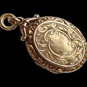 Antique Edwardian 9ct Gold BF Chased Locket c1910