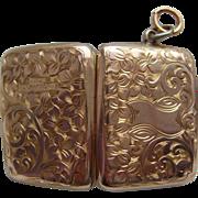 Antique Edwardian 9ct Gold BF Rectangular Chased Locket c1910