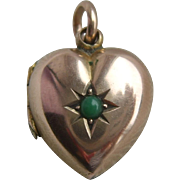 Rare Early Victorian 9ct Gold Back & Front Charm Sized Locket ..Tiny!