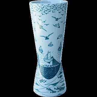 Modern Vase Faience for Nymolle by Paul Høyrup C. 1950 Denmark