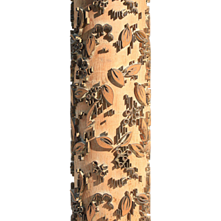 Beautiful Vintage Wood Wallpaper Roller Lamp
