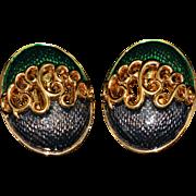Vintage Huge Original Clips Signed Nina Ricci 1960-s