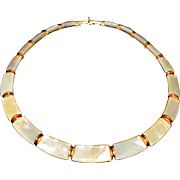 Vintage Choker Necklace Unsigned 1970-s made of Plastic