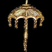 Vintage Umbrella Brooch/Pin Signed Monet 1970-s