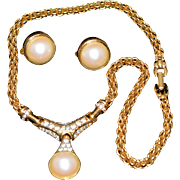 Vintage Signed Nina Ricci Set (Necklace and Earrings) 1960-s