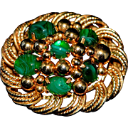 Vintage Brooch Signed Christian Dior 1967 Germany