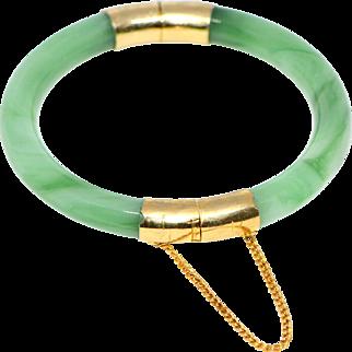 Vintage Bracelet from Real Jade Stone 1970-s