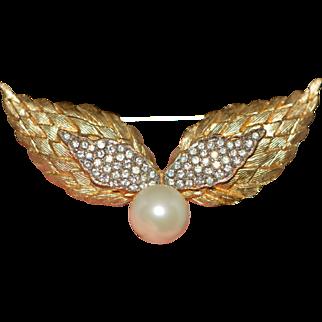 Vintage Brooch Wings Signed De Nicola Late 1950-s