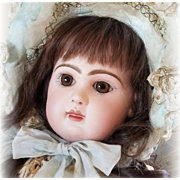 Antique French Bisque Tete Jumeau Bebe Doll Closed Mouth Medaille D' Or Original Body