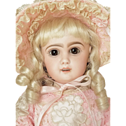 Pretty Antique  Depose Tete Jumeau Bebe French Bisque  Doll Circa 1890s