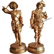 Late 19th. Century. Pair of Antique Spelter Figures. Don Juan and Don Ceasar.