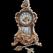 1850 1899 Antique French Striking Boudoir Mantle Clock.