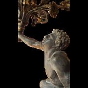 Antique French Bronze & Spelter centerpiece,candelabra by Jean-Pierre Cortot.