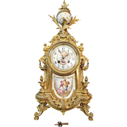 French Antique  19th Century Ormolu Mantle Clock by J. Camelin.