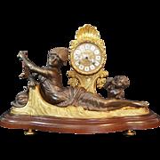 Vintage Ormolu-mounted  mantle clock, Franz Hermele Clock Co.  Rare
