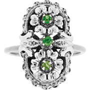 Stunning Conversion Ring with Emeralds in 18ct White Gold