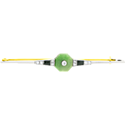 Art Deco Jade and Diamond Brooch set in 18ct Yellow Gold