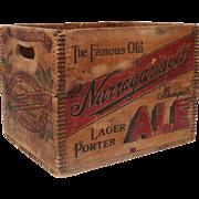 Narragansett Advertising Sign Crate
