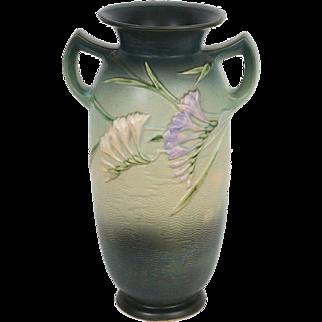 """Roseville – Freesia 15"""" – Handled Vase  #128 - 15"""