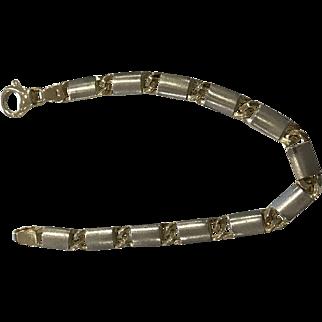 Vintage Italian 14k Yellow Gold Link Bracelet