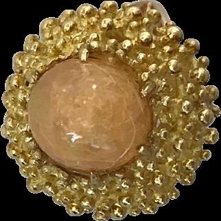 18K and 14K Vintage Estate Opal Ring