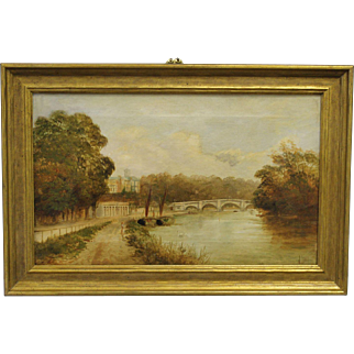 19th century oil by J.H. Lewis