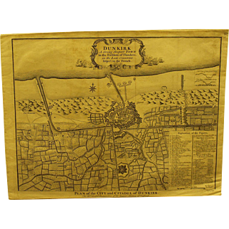 18th century map of Dunkirk