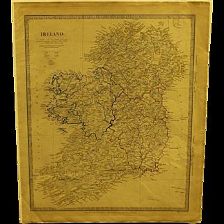 Mid 19th century Map of Ireland