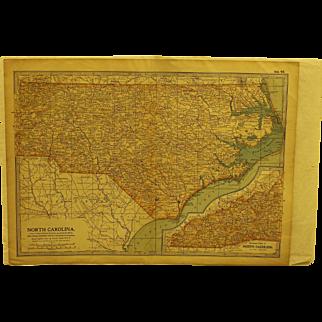 19th century Map of North Carolina
