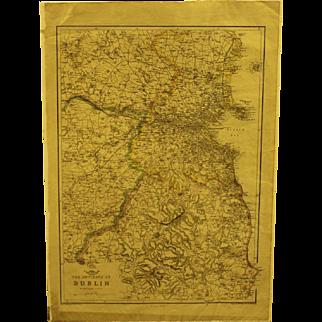 19th century Map of Dublin
