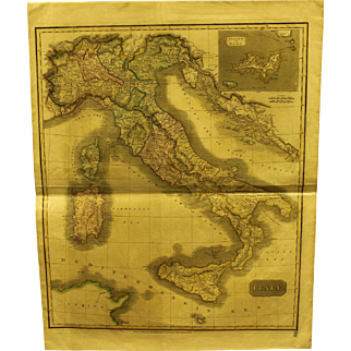 Early 19th century Map of Italy