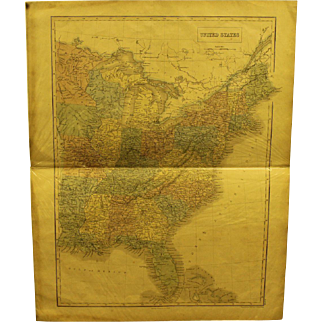 Mid 19th century US Map of the US before the Louisiana Purchase