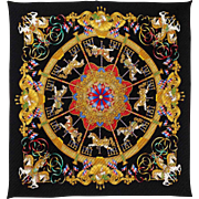 Hermes Multicoloured Carnival  Horse Silk Scarf