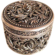 Vintage-Chinese-Sterling-silver-925-carved-box