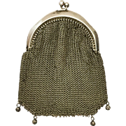 Elegant and Simple 800 Silver Mesh Purse