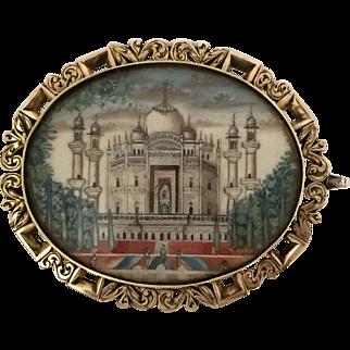 Fantastic Victorian Miniature of the Taj Mahal