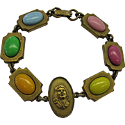 1950's Jelly Bean and Cameo bracelet of Little Girl
