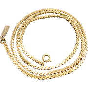 1970's LANVIN Gold-tone Flat Chain Necklace.