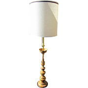 """Amazing 1950's Vintage MARBRO Company Floor Lamp in Gold Thai Temple Asian Design 5"""" tall"""